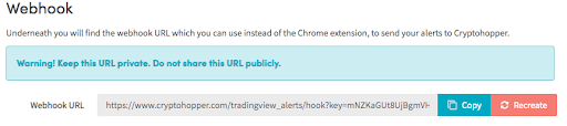 cryptohopper tradingview integration webhook example