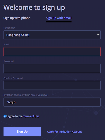 Create-an-account-with-huobi