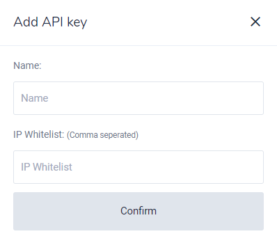 Add API Key Bitvavo