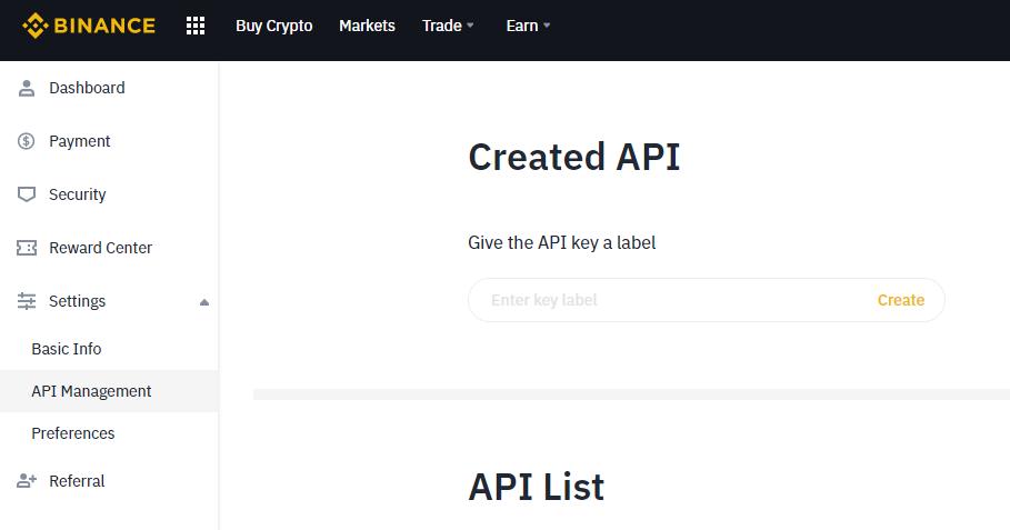 binance-create-api-key