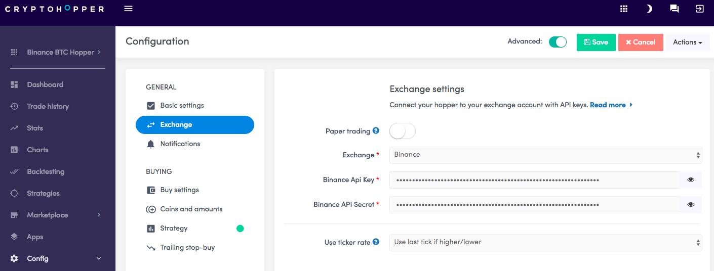 cryptohopper-exchanges