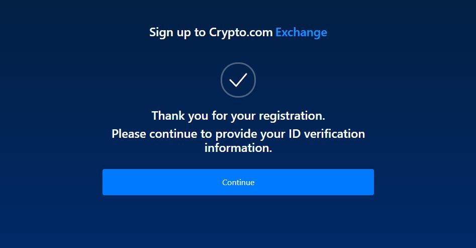 succesfull registration